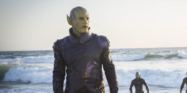 Skrulls on the beach in Captain Marvel