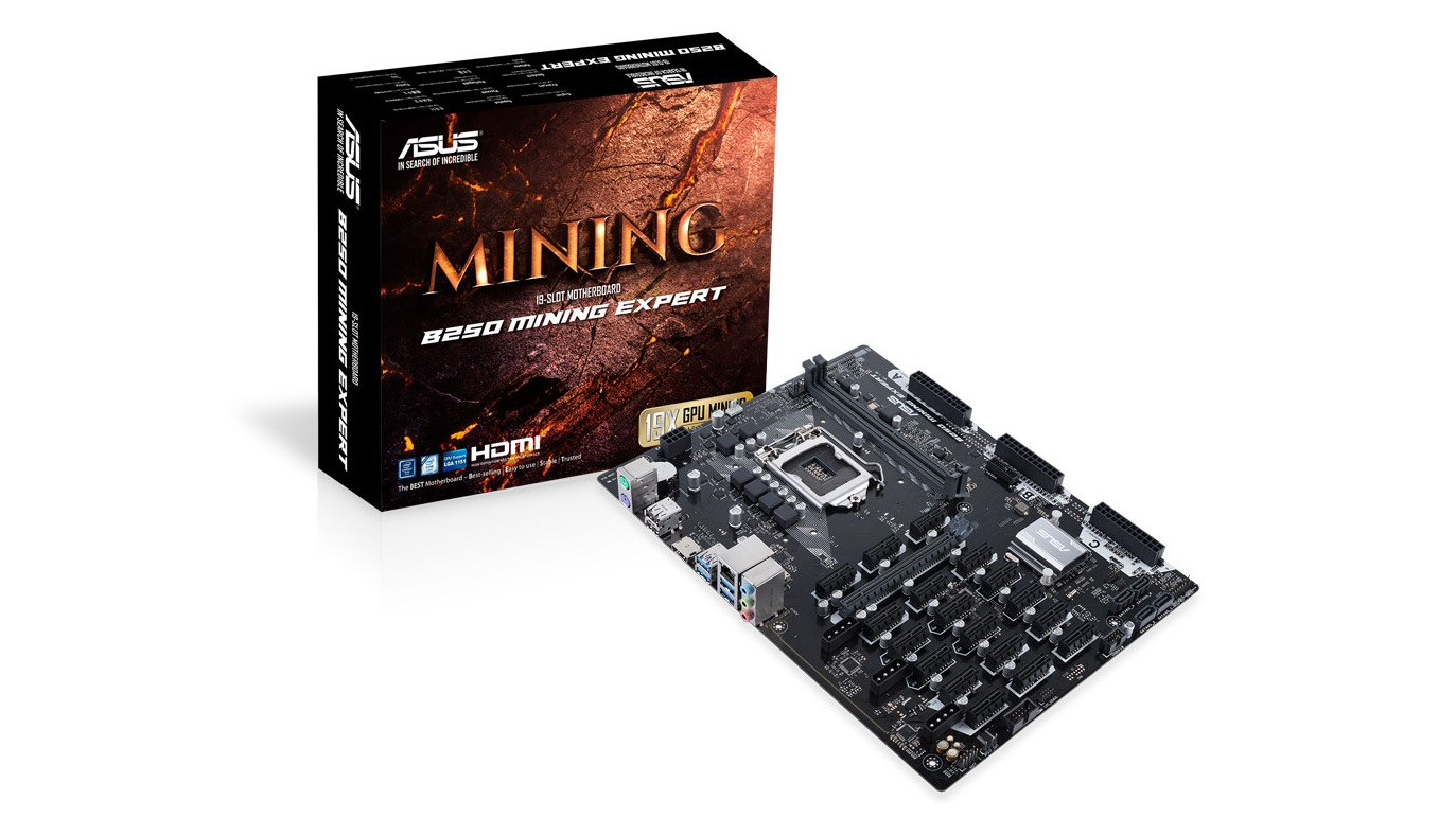 best mining motherboards: Asus B250 Mining Expert