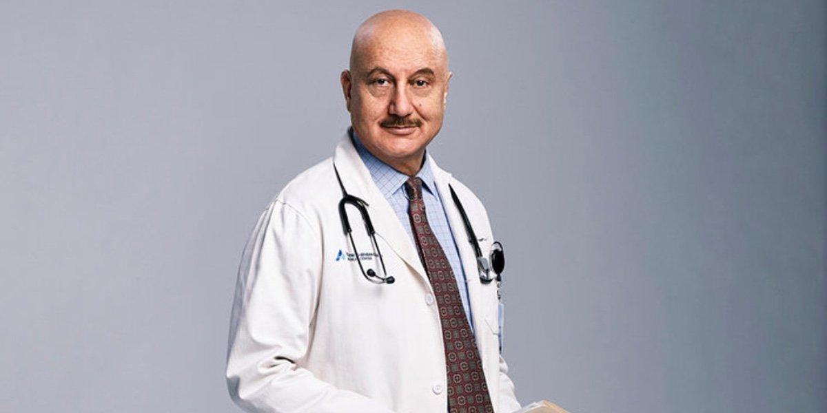 Anupam Kher as Dr. Vijay Kapoor in New Amsterdam.