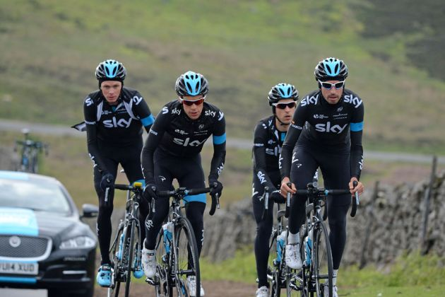 Chris Froome, Richie Porte, David Lopez and Mikel Nieve