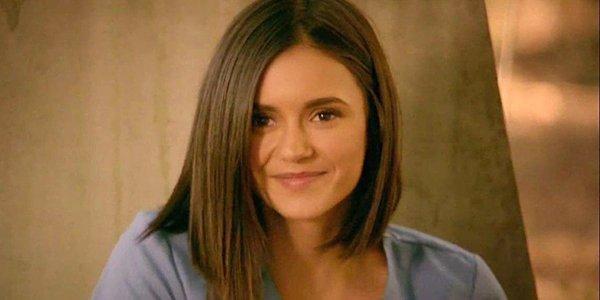 Nina Dobrev smiles Elena Gilbert The Vampire Diaries series finale The CW