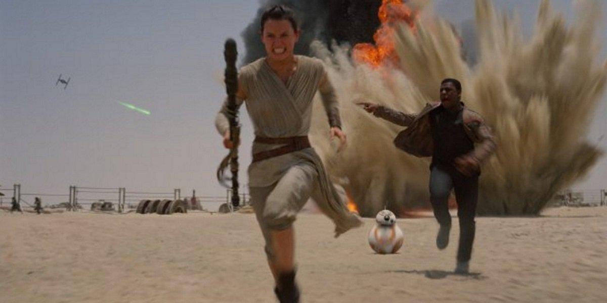 Rey, Finn, And BB-8 Star Wars: The Force Awakens Disney