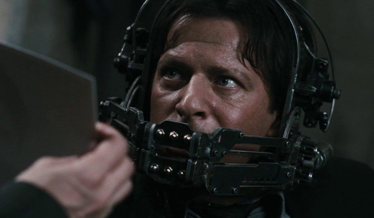 Costas Mandylor in the reverse bear trap in Saw VI.
