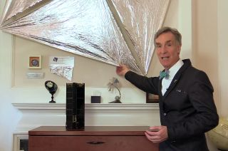 Bill Nye Shows LightSail Material