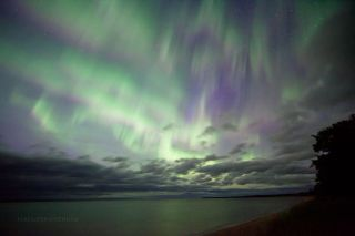 Aurora Over Lake Superior by Malone