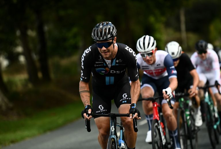 Nico Roche riding his final professional race at the Irish National Championships road race 2021