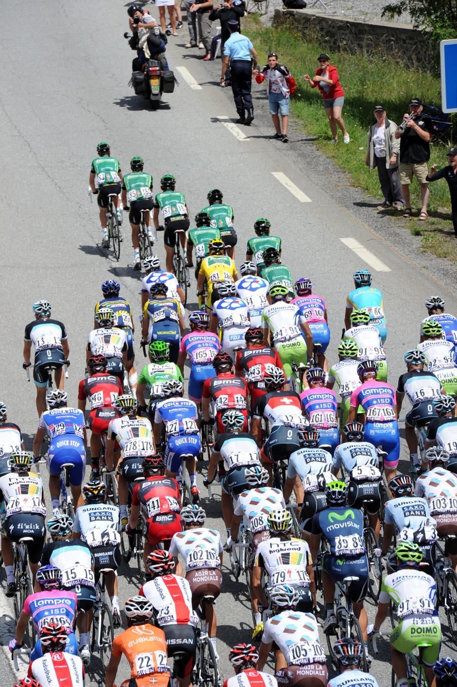 Peloton, Tour de France 2011, stage 17