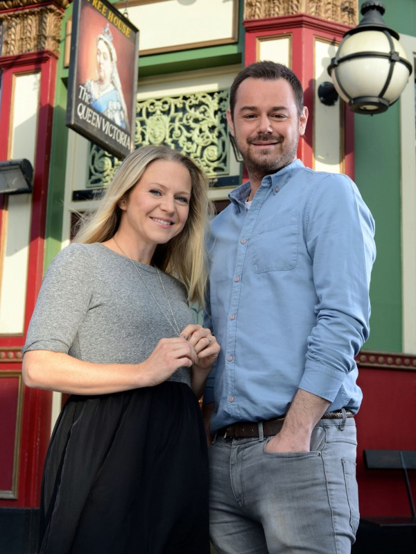 Kellie Bright and Danny Dyer as Mick and Linda Carter in EastEnders