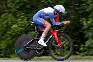 ROCHELAMOLIERE FRANCE JUNE 02 David Gaudu of France and Team Groupama FDJ during the 73rd Critrium du Dauphin 2021 Stage 4 a 164km Individual Time Trial stage from Firminy to RochelaMolire 585m ITT UCIworldtour Dauphin dauphine on June 02 2021 in RochelaMoliere France Photo by Bas CzerwinskiGetty Images
