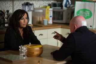 Phil wants answers from Kat in EastEnders