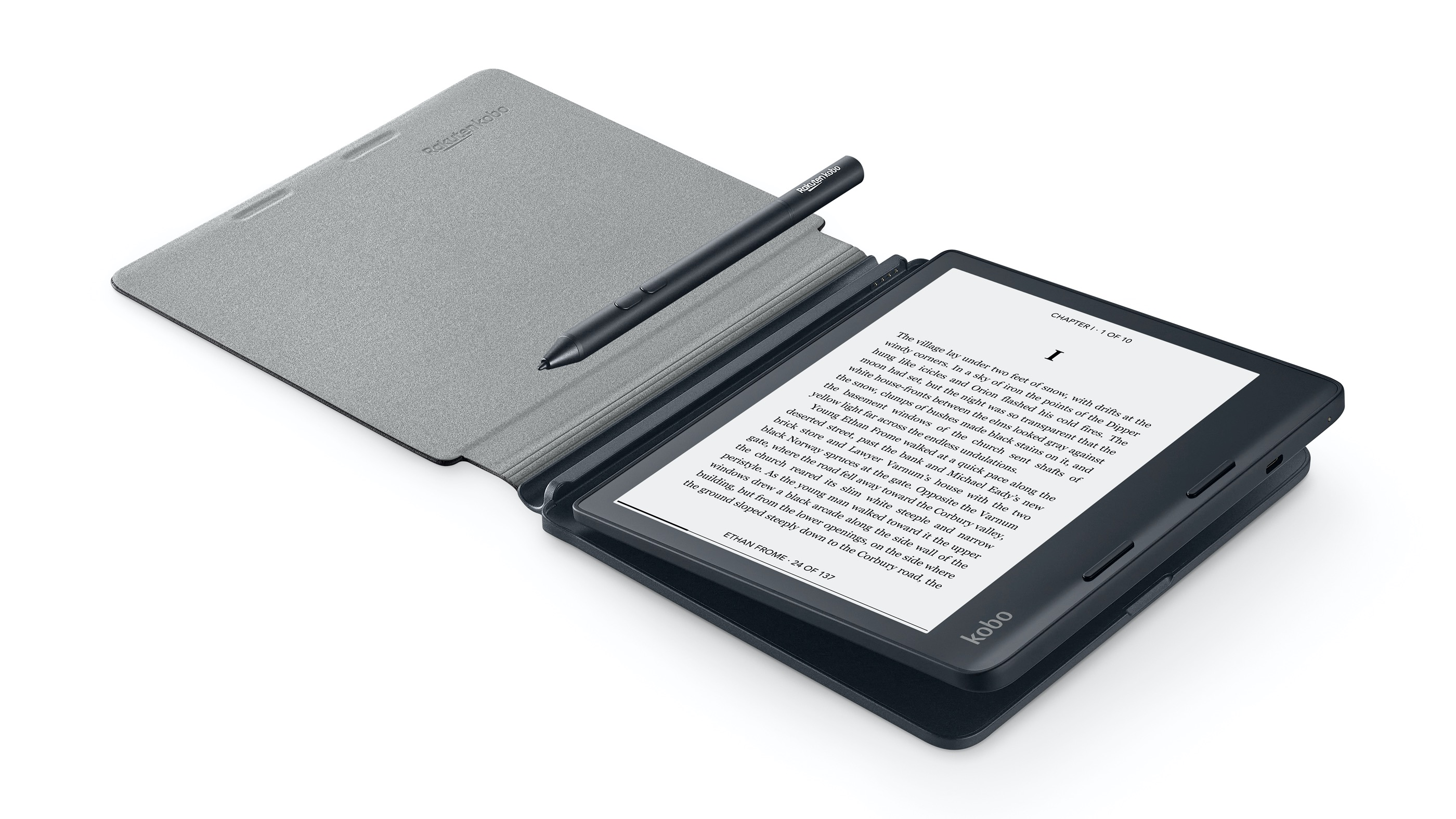 Kobo Sage in PowerCover with Stylus