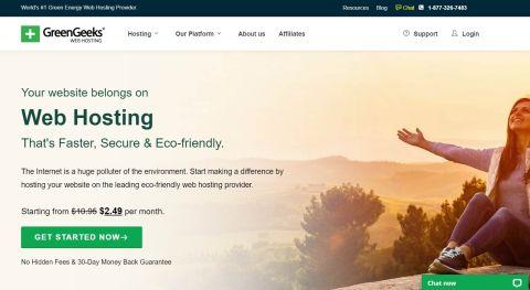 GreenGeeks' homepage