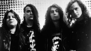 A press shot of Voivod in their early days