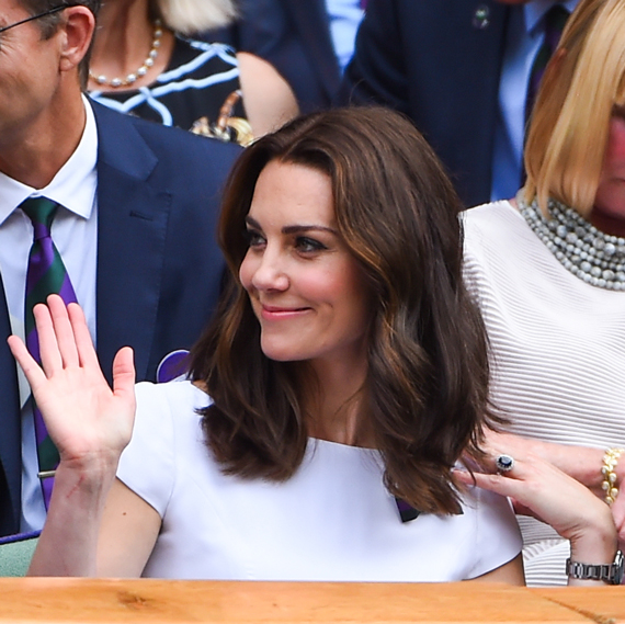 Kate Middleton with a bob hairstyle at Wimbledon