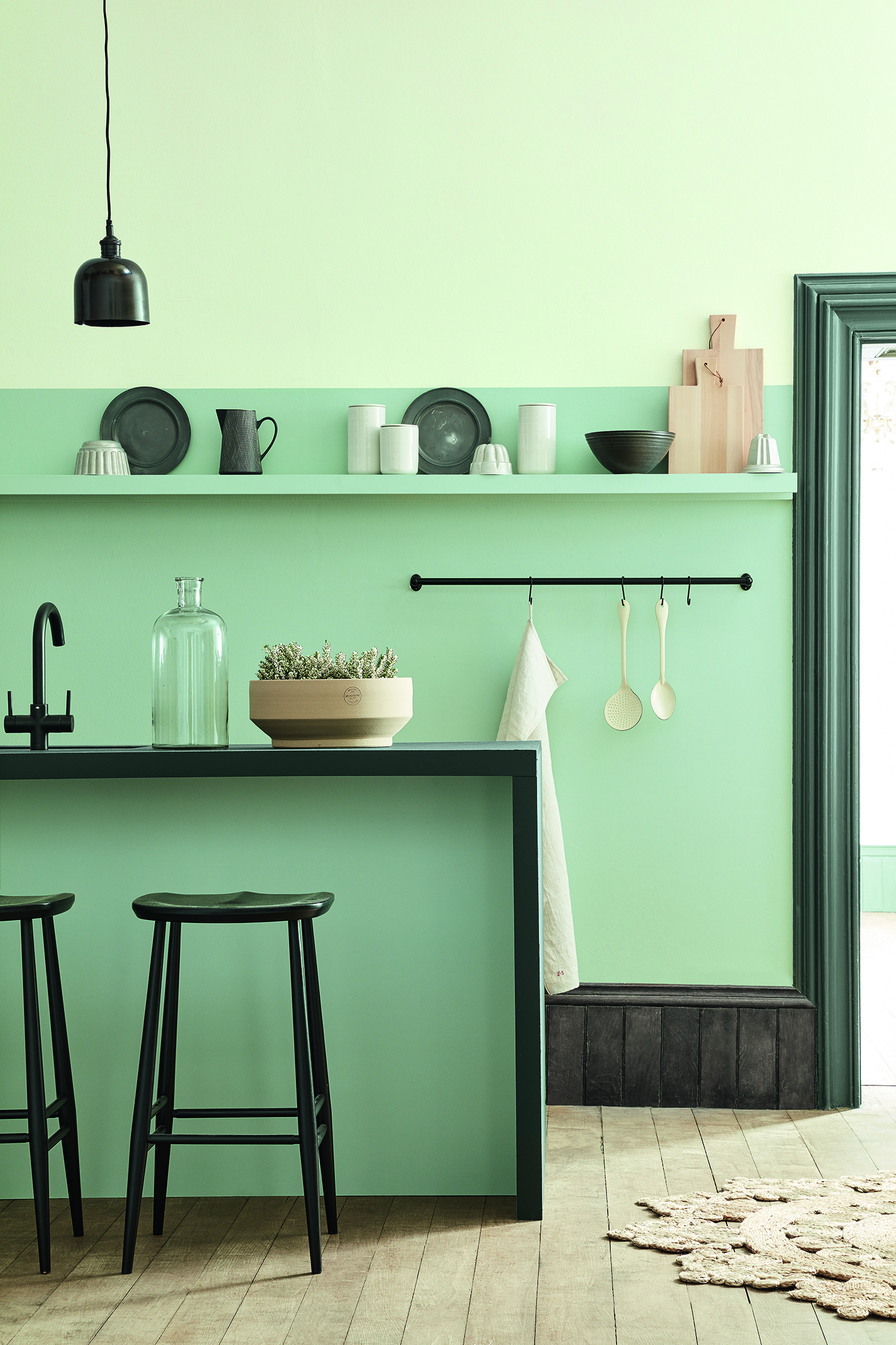Sage Green Home Colour Trend Kitchen