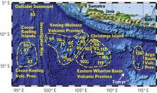 Christmas Island Seamount Map