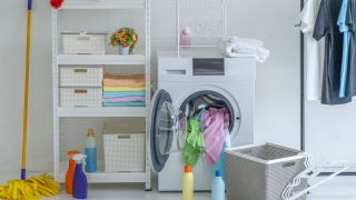 Do dryers kill germs?: Image shows dryer in laundry room