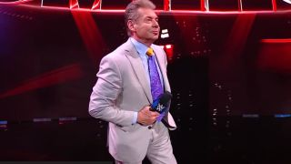Vince McMahon addresses the crowd at SmackDown