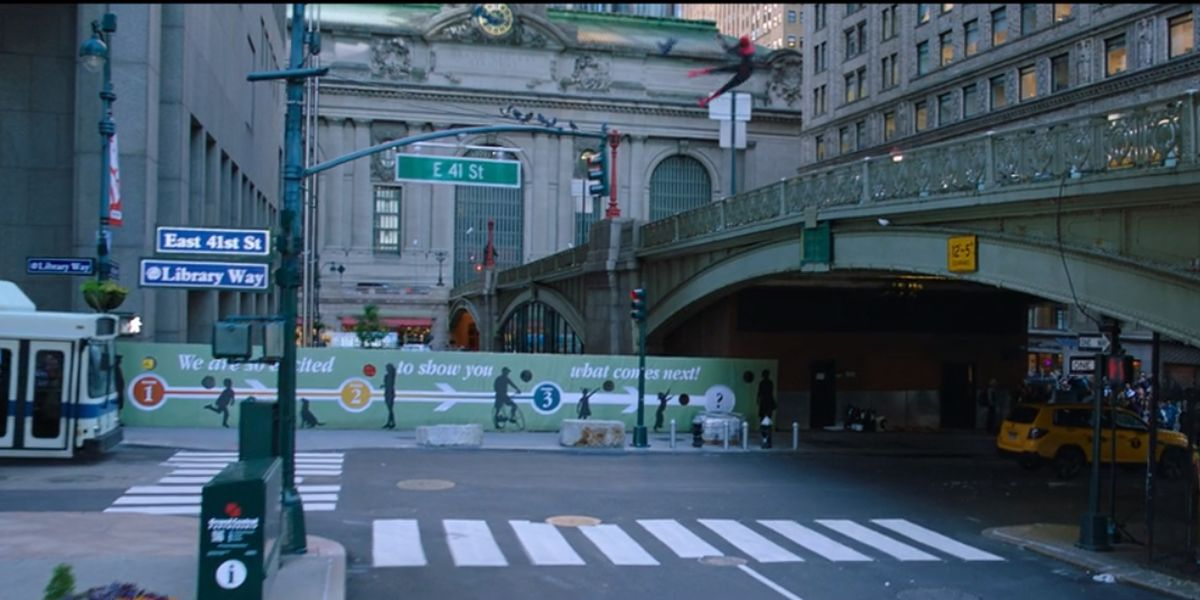 billboard in Spider-Man: Far From Home