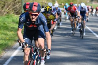 Ineos Grenadiers rider pictured in action during the LiegeBastogneLiege one day cycling race 2595km from Liege to Liege Sunday 25 April 2021 in Liege BELGA PHOTO ERIC LALMAND Photo by ERIC LALMANDBELGA MAGAFP via Getty Images