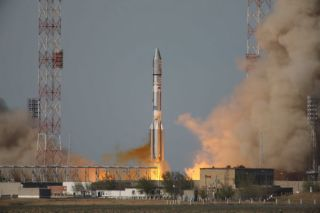 Russian Rocket Launches American Communications Satellite