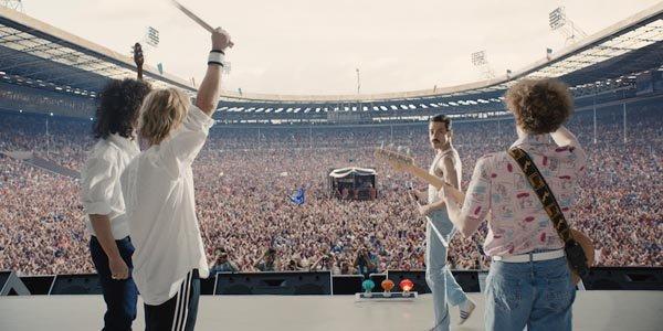 Bohemian Rhapsody movie concert scene