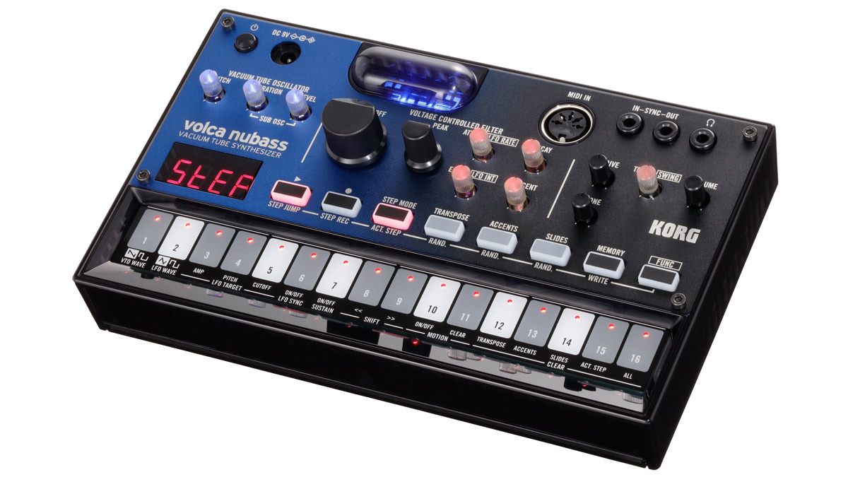 Superbooth 2019: Korg's Volca nubass offers NuTube warmth inside a portable bass synth