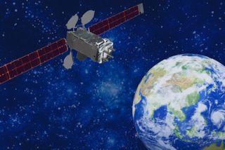 Artist's Concept of the Intelsat 22 Satellite in Orbit