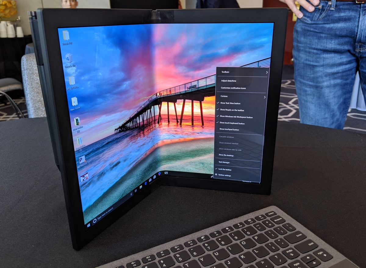 Lenovo Unveils World's First Foldable PC, and I Tried It