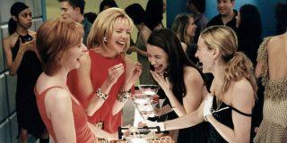 Cynthia Nixon, Kim Cattrall, Kristin Davis, and Sarah Jessica Parker in Sex and the City