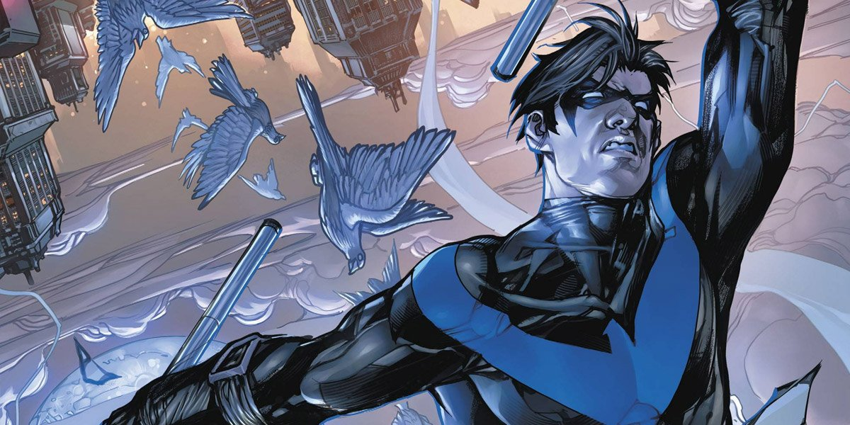 Nightwing dives in DC Comics