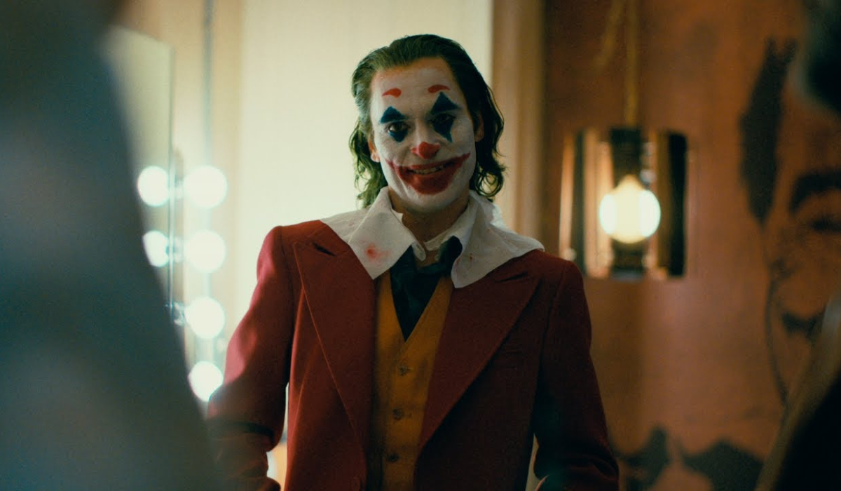 Joker grinning in the green room