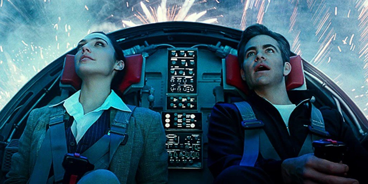 Gal Gadot and Chris Pine in Wonder Woman 1984