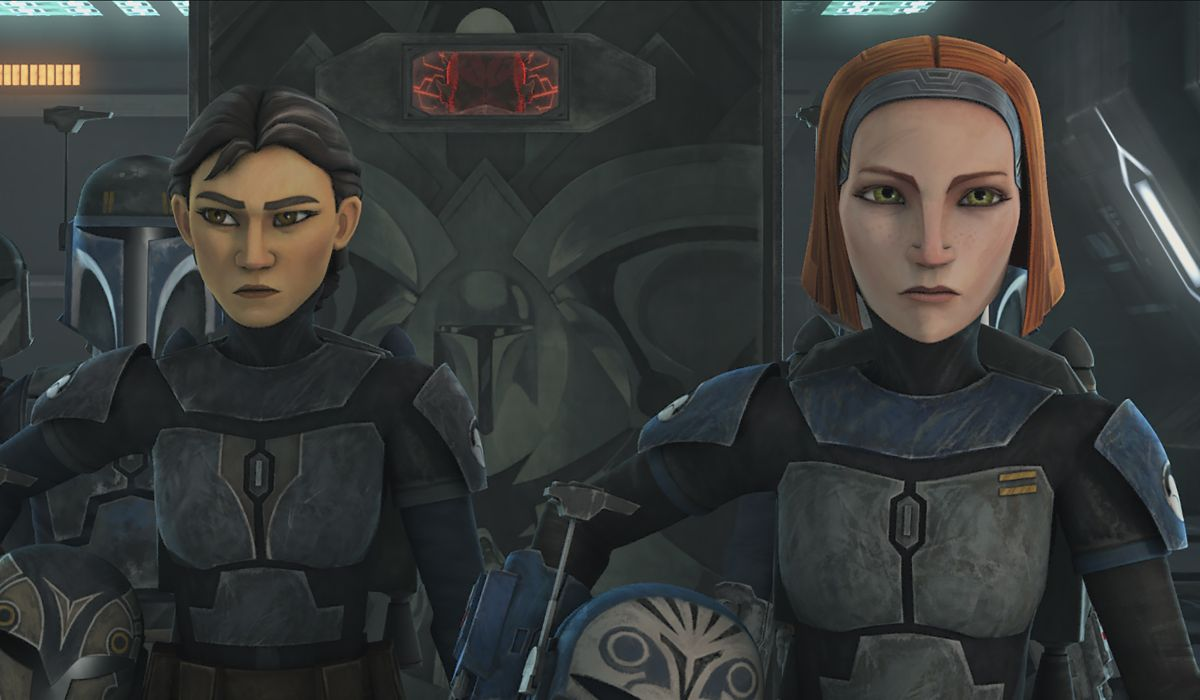 Bo-Katan and her mother in Rebels