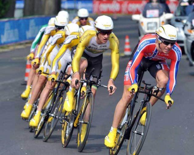 Columbia 2009 Giro stage one TTT