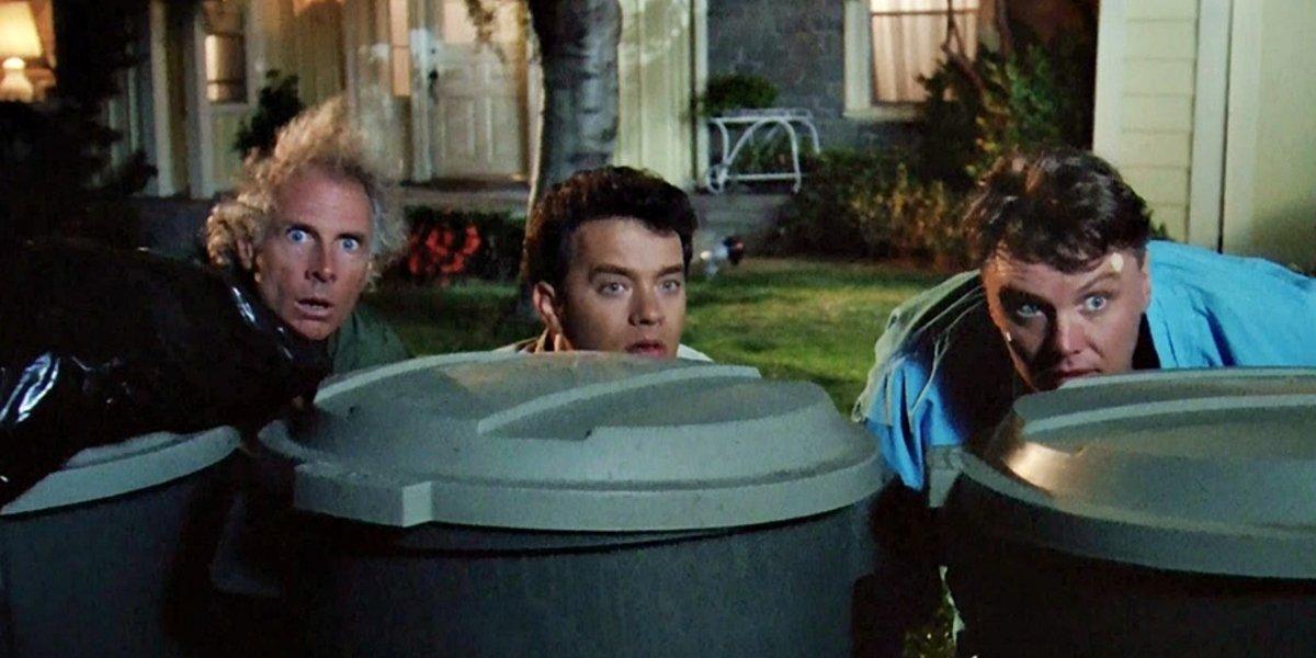 Bruce Dern, Tom Hanks, and Rick Ducommun in The 'Burbs