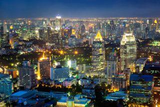 night lights in Bangkok, Thailand