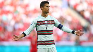 Cristiano Ronaldo of Portugal during his team's Euro 2020 match against Hungary on June 15, 2021.