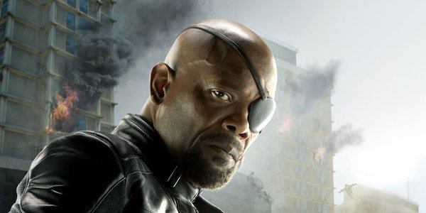 Nick Fury in the Age of Ultron poster