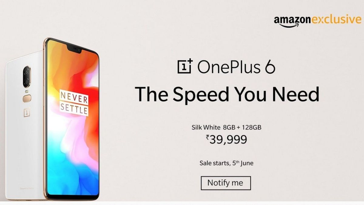 OnePlus 6 Silk White Limited Edition to go on sale in India from June 5