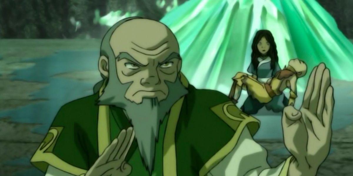 Iroh, Aang, and Katara