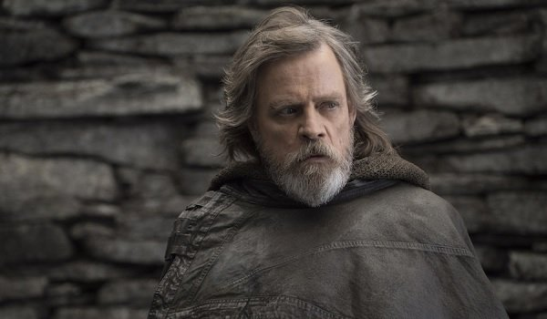 Star Wars: The Last Jedi Luke looking perplexed on Ahch-to