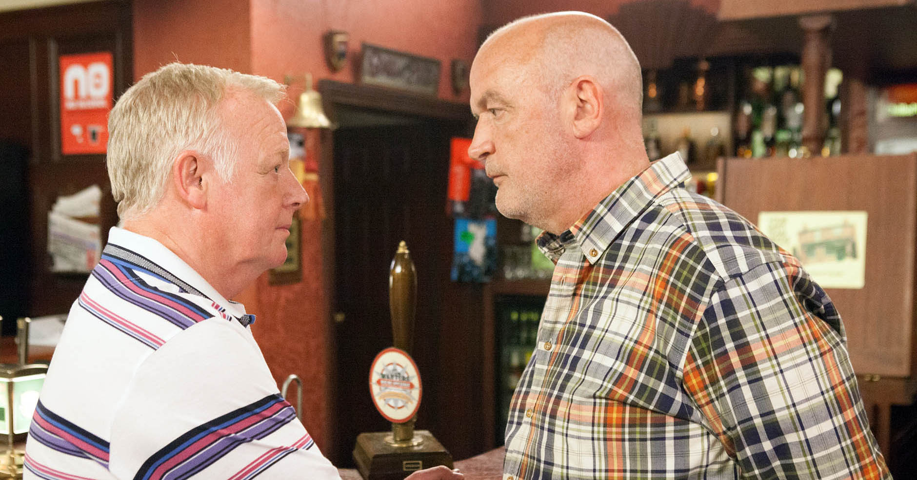 Pat Phelan and Michael Rodwell in Coronation Street
