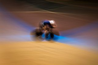 TOPSHOT US Ashton Lambie competes in the Mens individual pursuit during the UCI track cycling World Championship at the velodrome in Berlin on February 27 2020 Photo by Odd ANDERSEN AFP Photo by ODD ANDERSENAFP via Getty Images