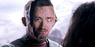 Deadpool in a Hugh Jackman mask