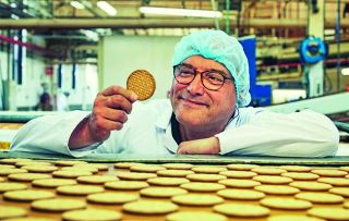 Gregg Wallace and Cherry Healey are beside themselves with excitement tonight as they learn how chocolate digestives are made.