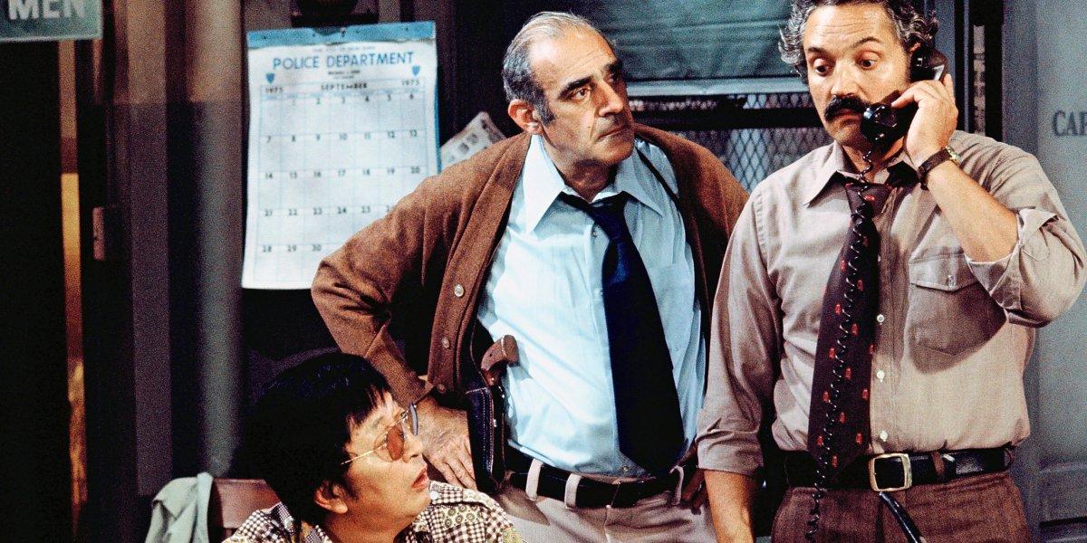 Jack Soo, Abe Vigoda, and Hal Linden on Barney Miller