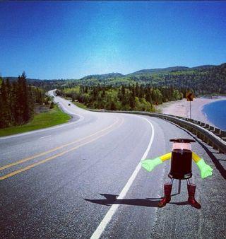 robots hitch hiking technology