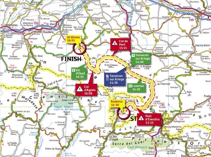 Tour de France 2009 stage 8 map