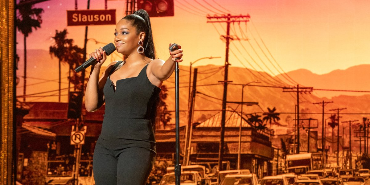 Tiffany Haddish in her comedy special, Black Mitzvah, on Netflix.